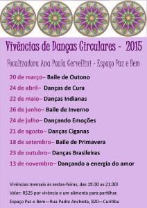 Calendário 2015 Paz e Bem